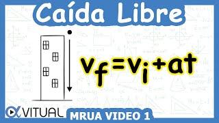 Caída libre (MRUA) ejemplo 1 de 8 | Física - Vitual