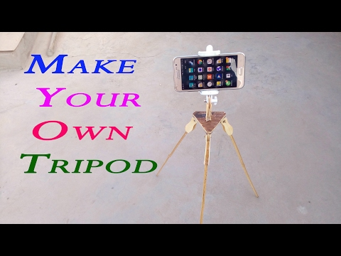 How to Make tripod for Mobile camera, DSLR, Handicam, flash light etc. Full Hindi tutorial