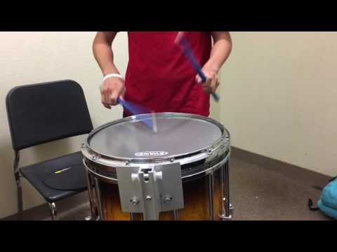 Snare drumming at Santa Ana high school