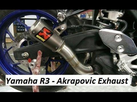 Yamaha R3 - Akrapovic Exhaust Sound - India