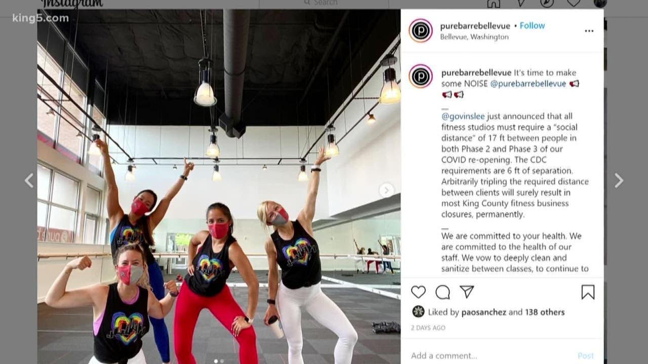 Coronavirus restrictions on gyms begin Monday