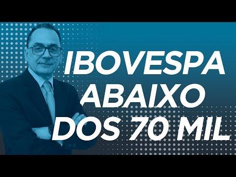 IBOVESPA abaixo dos 70 mil pontos - Fechamento de Mercado