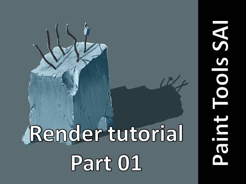Paint Tools Sai – Rendering tutorial part 01