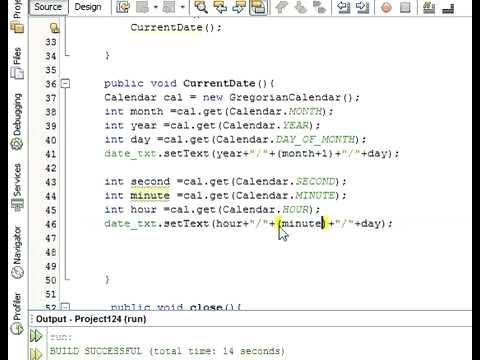 Java prog#13 Display Time and Date In java Netbeans