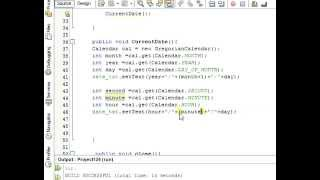 Java prog#13.Display Time and Date In  java Netbeans