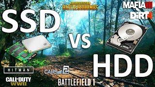 SSD vs HDD Test in New 7 Games (FPS\Loading)