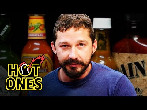 Shia LaBeouf Cries While Eating Spicy Wings!