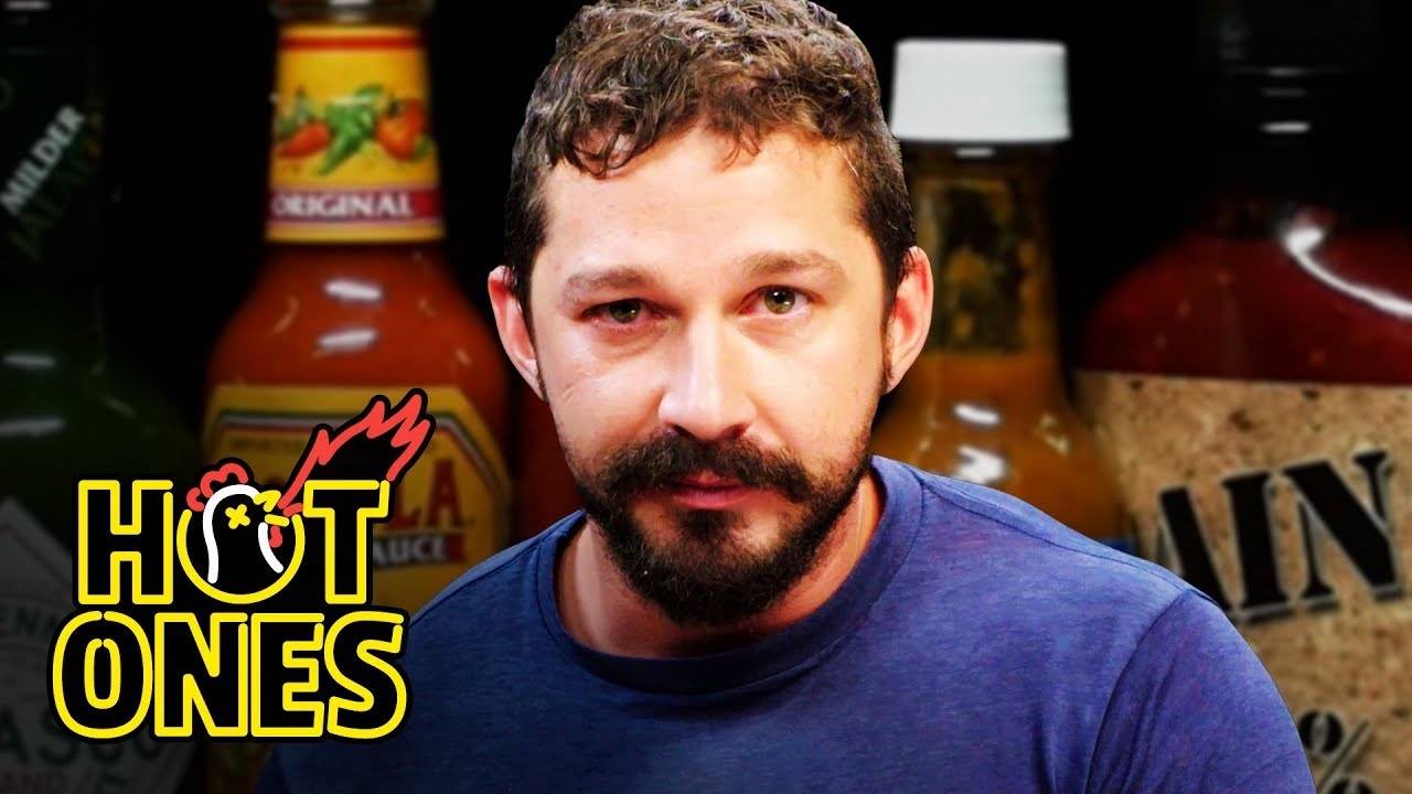 Shia LaBeouf Sheds a Tear While Eating Spicy Wings | Hot Ones image