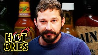 Download Shia LaBeouf Sheds a Tear While Eating Spicy Wings | Hot Ones Mp3 and Videos