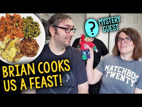Brian Cooks Vegan Feast For Jessica + Surprise Guest In Nottingham, UK