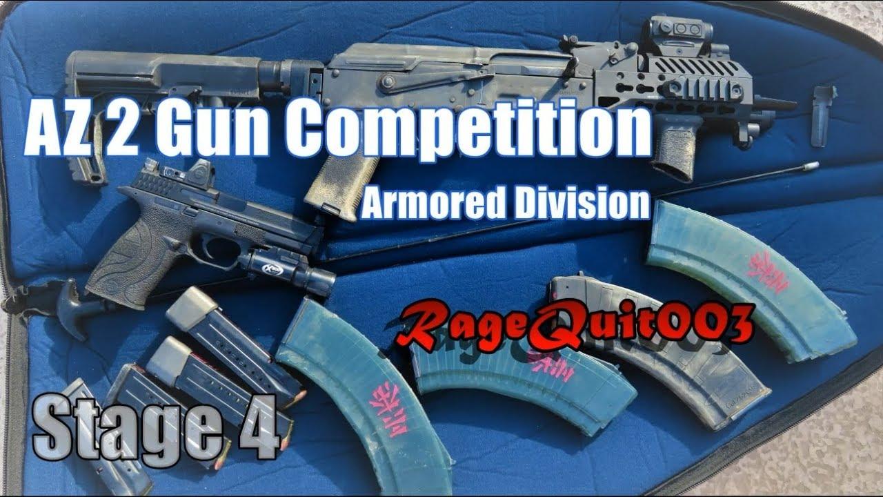 AZ 2 Gun Competition - Stage 4 Armored - Broke My Mini Draco - CowTown  09-02-17