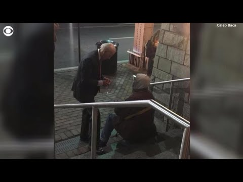 Photo of Joe Biden speaking to a homeless man goes viral
