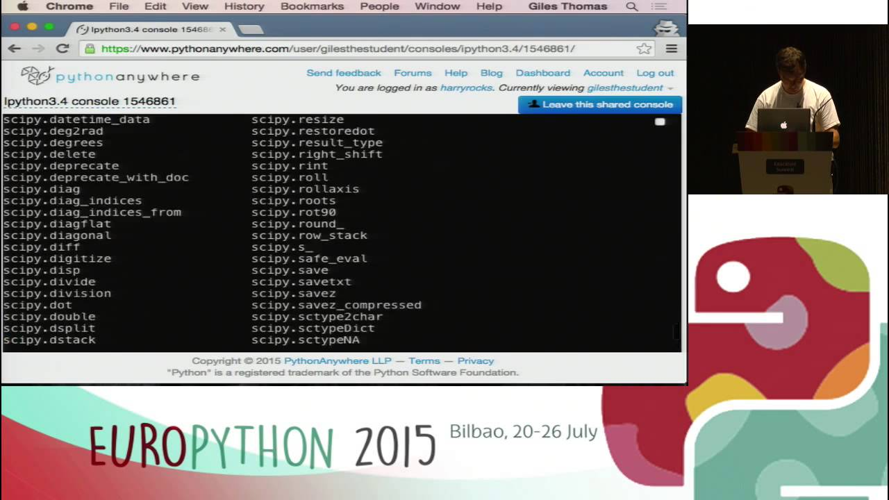 Image from PythonAnywhere and Education