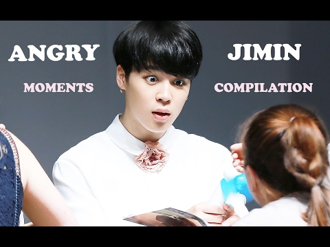 [COMPILATION] How BTS Jimin acts when hes angry or mad?