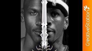 Michael Jordan x Allen Iverson - Speed Drawing | CreativeStation