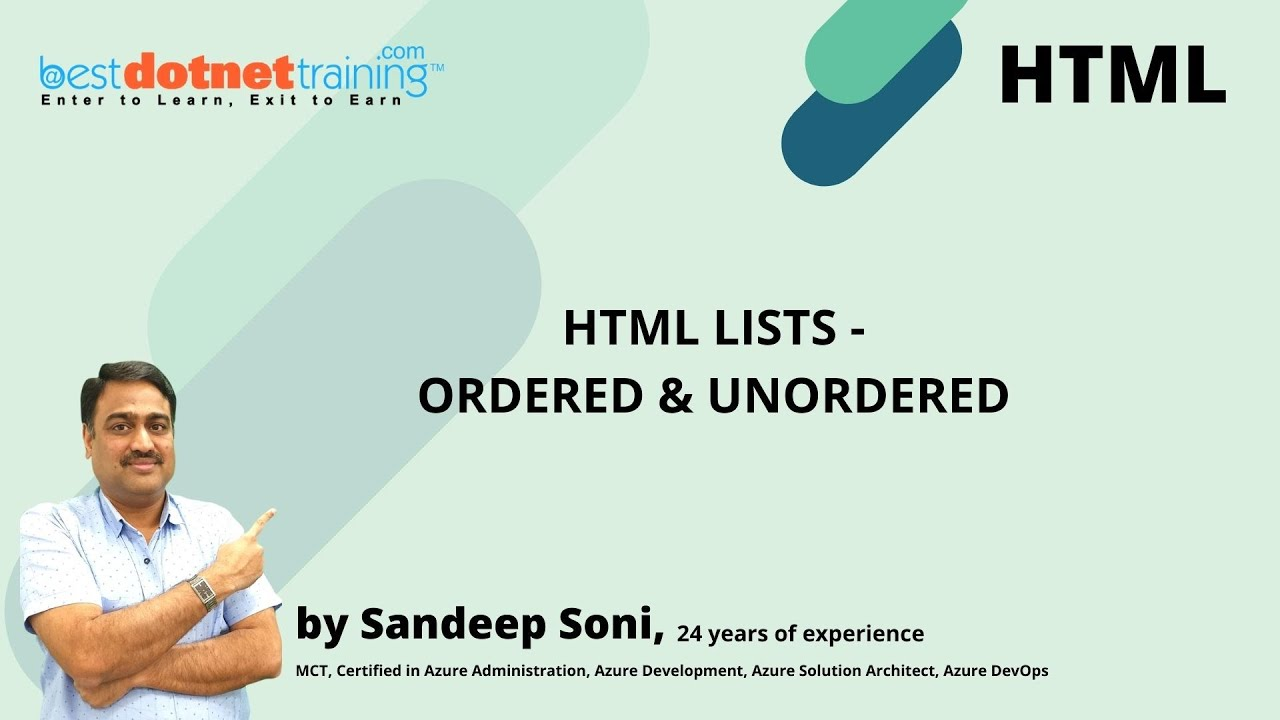 HTML Tutorial - Ordered list and Unordered list