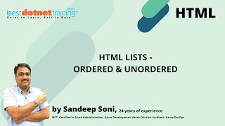 html5 tutorial 4 ordered list and unordered list