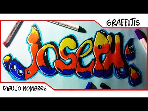 Dibuja Mi Nombre En Graffiti  Joseph  Como Dibujar letras en 3d