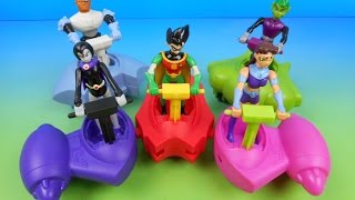 2005 TEEN TITANS HEROCYCLE SET OF 5 JOLLIBEE KIDS MEAL TOYS VIDEO REVIEW