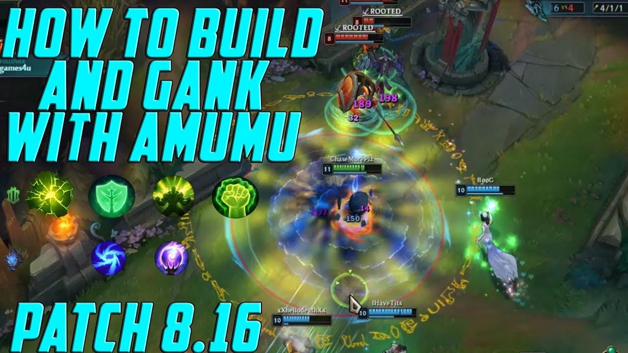 How To Play Amumu Season 8: AMUMU BUILD For Patch 8.16: HOW TO PATH & GANK  WITH AMUMU JUNGLE S8