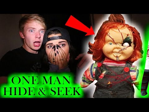Chucky ONE MAN HIDE AND SEEK  3 AM CHALLENGE