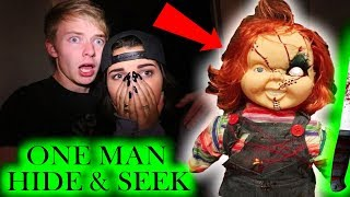 (Chucky) ONE MAN HIDE AND SEEK // 3 AM CHALLENGE