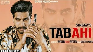 Tabahi Singga Official Song Ryder Latest New Punjabi Songs 2019