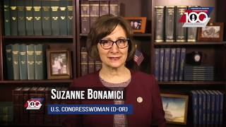 Congratulatory Centennial Message #6:  Congresswoman Suzanne Bonamici (D-OR)