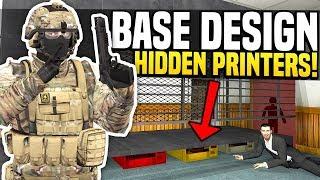 HOW TO HIDE MONEY PRINTERS - Gmod DarkRP | Best Base Design!