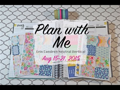Plan with me - Erin Condren - Vertical - Neutral - Functional white space Planning