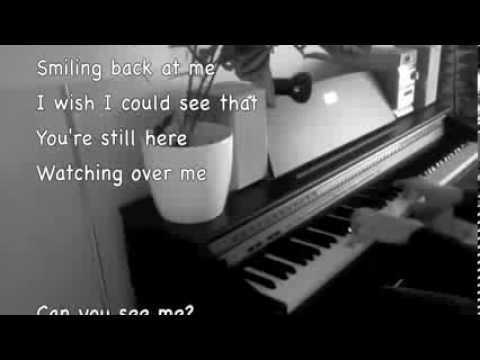 Krista Siegfrids - Can You See Me (Piano cover + lyrics)