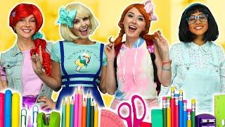Baixar DISNEY PRINCESS GIRLS! WITH ELSA AND ANNA, BELLE, JASMINE and MALEFICENT 2. Totally TV Parody.