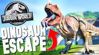 DINOSAUR ESCAPES PARK ENCLOSURE! - Jurassic World Evolution Ep #1