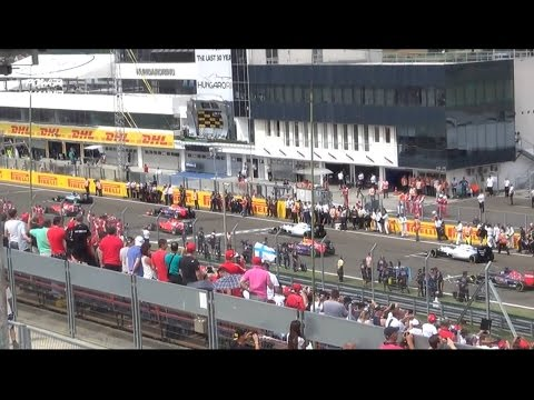 Formula 1 Race Start / 1 Lap / Vettel win 2015 HUNGARORING