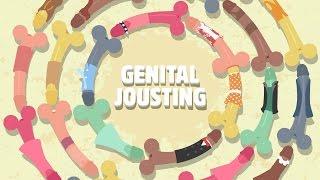 un juego didctico de cornetas genital jousting