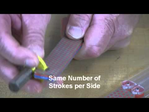 Video of Sharpening Router Bits with Double Sided Diafold® Sharpener