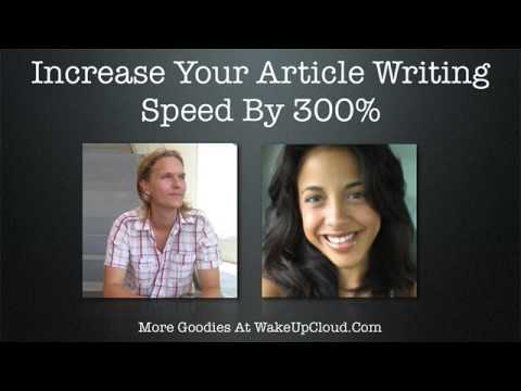 Increase Your Article Writing Speed by 300% (Episode #11)