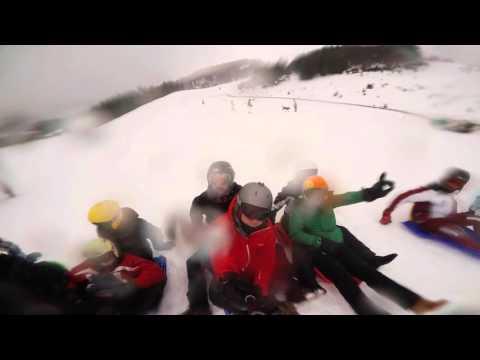 Skiing at monte cimone