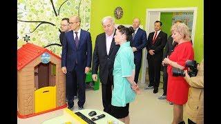 Открытие детского реабилитационного центра, построенного при поддержке БФ «САФМАР» Михаила Гуцериева