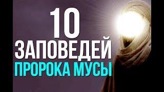 10 заповедей, которые Аллах ниспослал Моисею