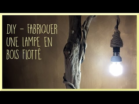 diy fabriquer une lampe en bois flott souraya youtube. Black Bedroom Furniture Sets. Home Design Ideas