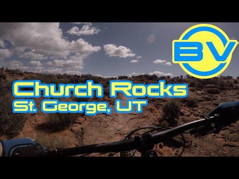Mountain biking Prospector & Church Rocks Trails - St. George, UT