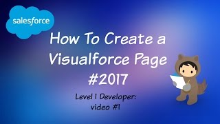 كيفية إنشاء visualforce الصفحة باستخدام معيار تحكم 2017