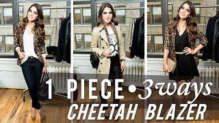 1 Piece, 3 Looks: Cheetah Blazer Thumbnail