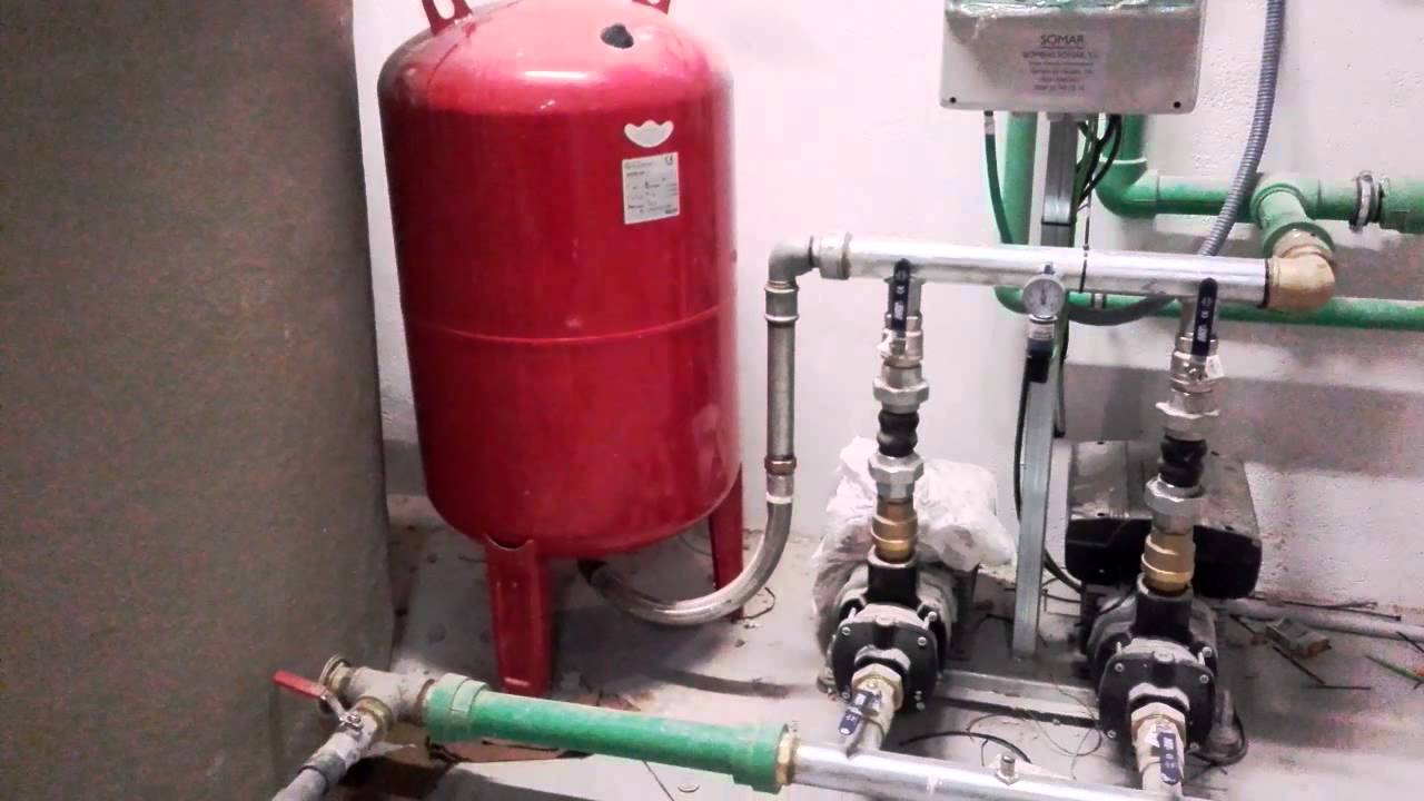 Instalaci n grupo de presi n de agua youtube for Estanque hidroneumatico