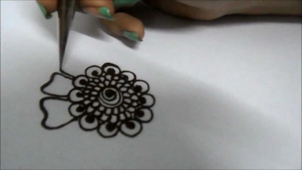 Flower Wali Mehndi : Mehndi design how to draw a flower youtube
