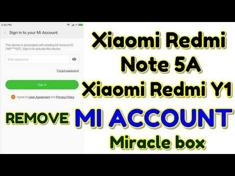 Xiaomi Redmi Note 5A / Xiaomi Redmi Y1 (MDI6S) Remove Mi Account | Miracle box | Hindi