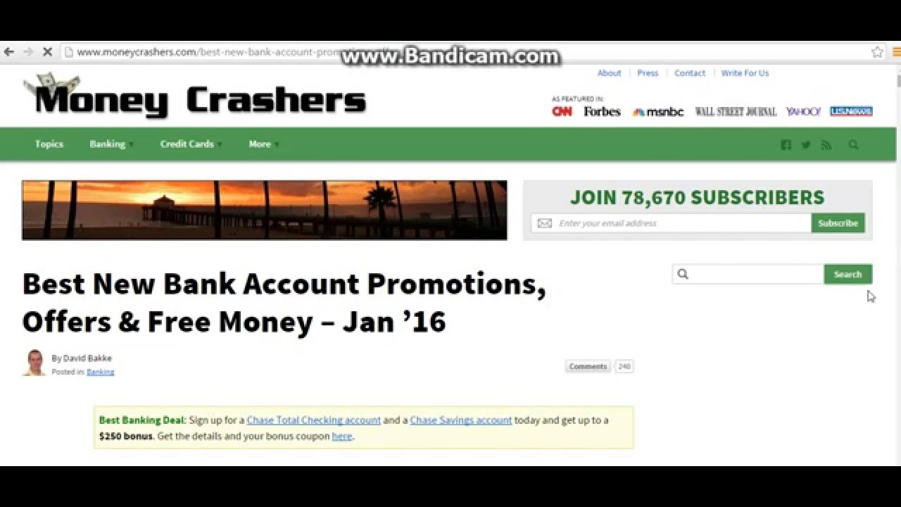 Best New Bank Account Promotions Offers Free Money
