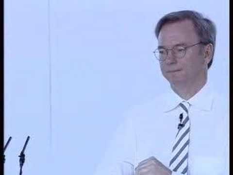 Eric Schmidt at Google Press Day Paris