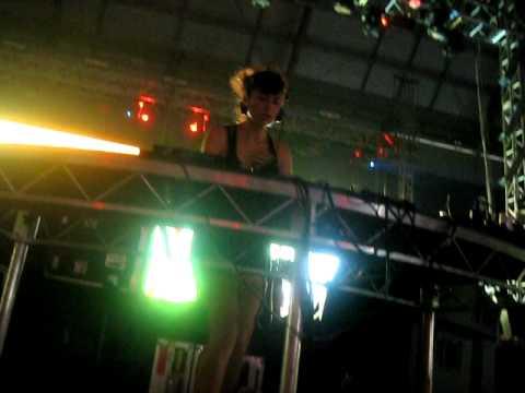 DJ Anna Lunoe in the Sydney Boiler Room